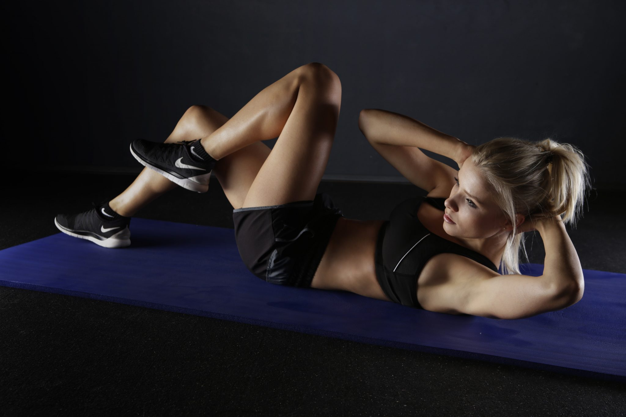 Athlete girl working out