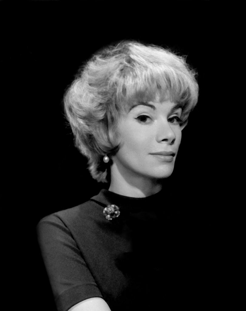 young joan rivers in black and white