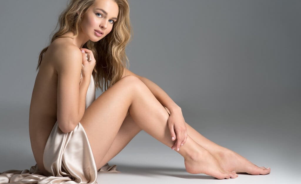Sexy fit naked woman - Laser hair removal