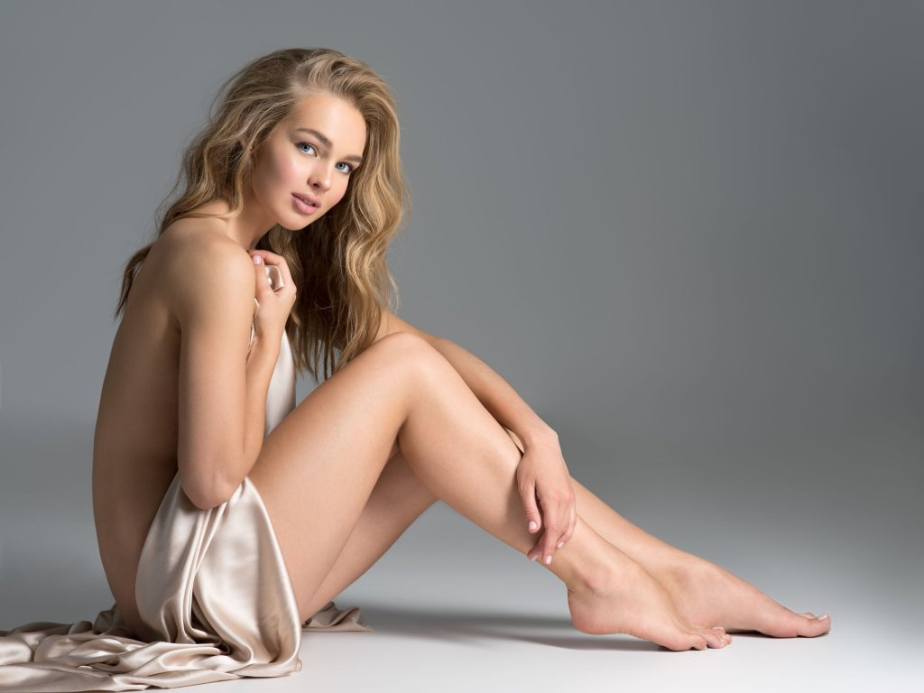 Intimate image of a beautiful blonde girl